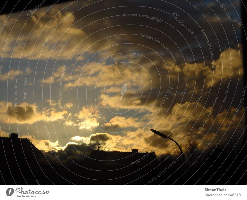 clouds@nevening dunkel Sonnenuntergang Dämmerung Wolken dusk Außenaufnahme