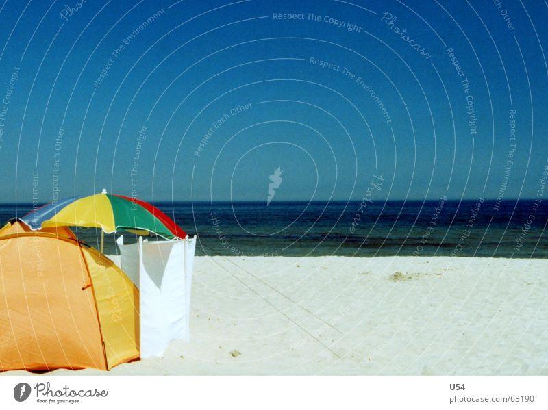 Mein Strand Wasser Sommer Freude Wellen Wind Schönes Wetter