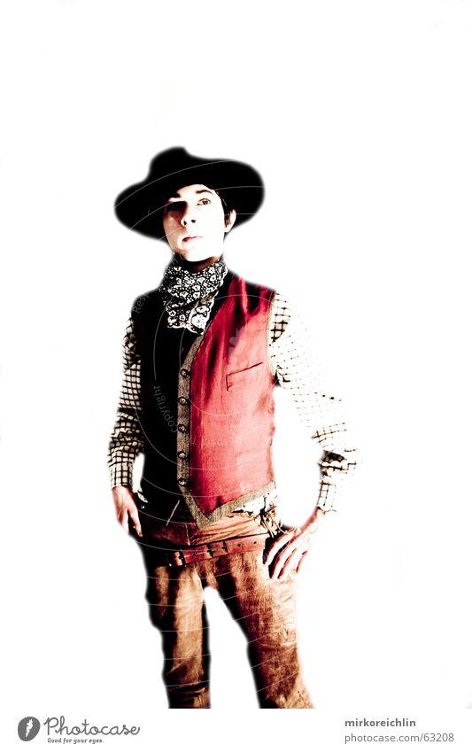 The Cowboy 4 Mann Junge wild Gewalt Hut Cowboy Westen Pistole Krimineller Weste Gewehr