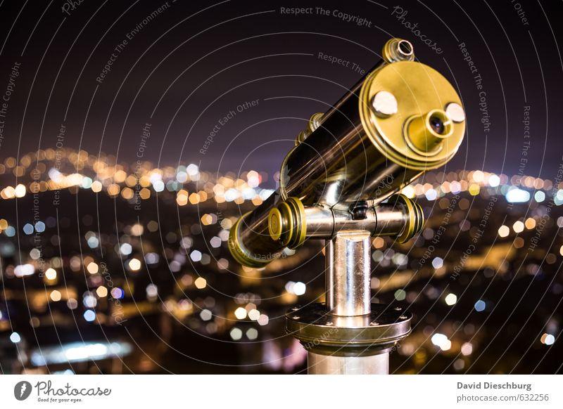 XXXXXL Objektiv Ferien & Urlaub & Reisen blau Stadt weiß schwarz gelb grau glänzend gold Tourismus Perspektive Ausflug Aussicht Neugier Skyline Sehenswürdigkeit