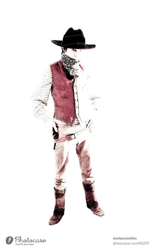The Cowboy 6 Mann Junge wild Gewalt Hut Westen Pistole Krimineller Gewehr