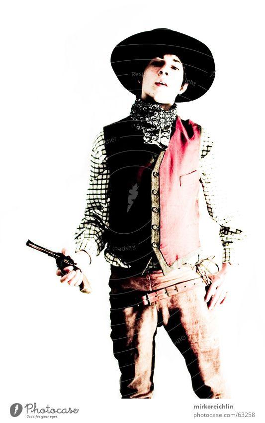 The Cowboy 7 Junge Mann Pistole Gewehr wild Krimineller sherif revolover Hut bigway Westen Gewalt