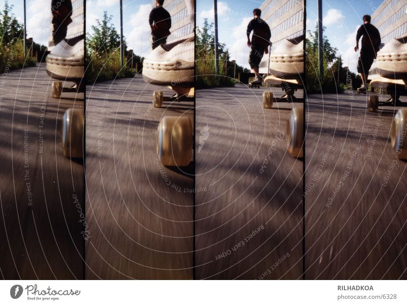 Lomolongboardride Sommer Sport Lomografie Asphalt Skateboarding Extremsport