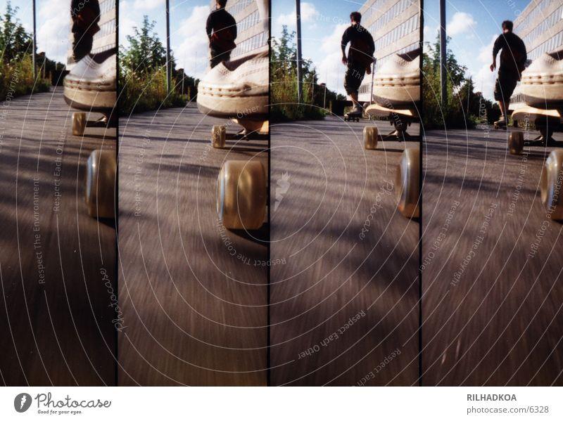 Lomolongboardride Sport Skateboarding Sommer Asphalt Lomografie Extremsport Downhill