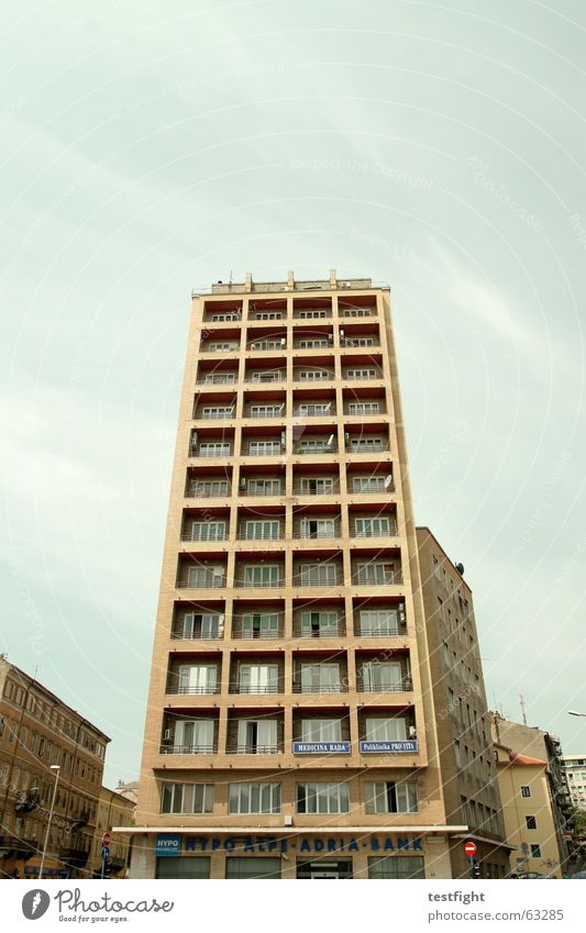 fassade Himmel Sonne Stadt Ferien & Urlaub & Reisen Haus Wolken Gebäude Fassade Süden Kroatien Rijeka