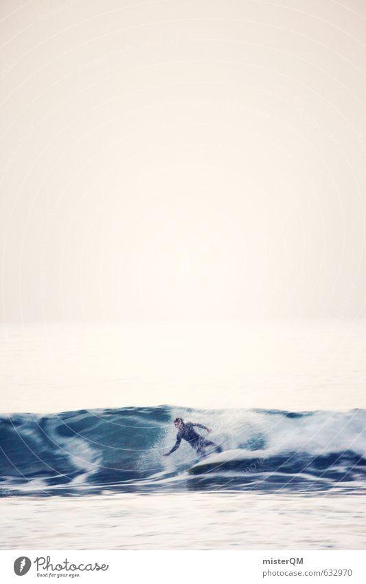 I.love.FV L Kunst ästhetisch Zufriedenheit Wellen Surfer Surfen Freiheit Extremsport Meer Surfbrett Neoprenanzug Urelemente Wasser Farbfoto Gedeckte Farben