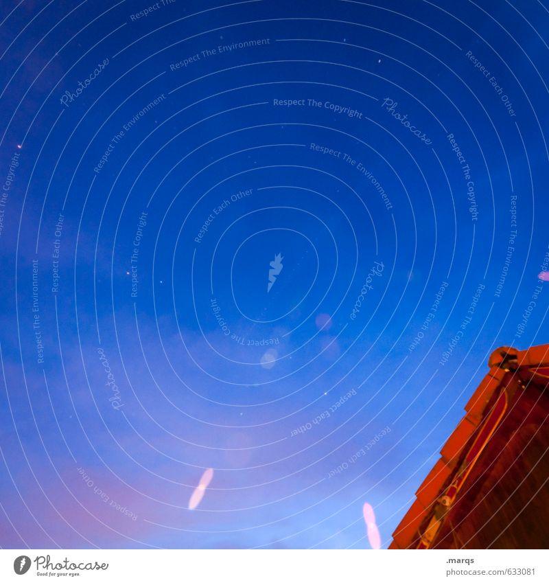 Grillabend Lifestyle elegant Stil Design Himmel Wolken Nachthimmel Sommer Hütte Dach Erholung einfach blau rot Stimmung Farbe Farbfoto Außenaufnahme