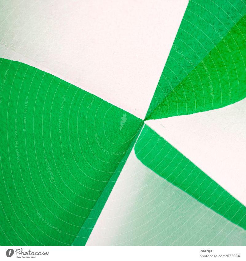 Verbogen Lifestyle elegant Stil Design Mauer Wand außergewöhnlich Coolness trendy modern grün weiß Hintergrundbild Doppelbelichtung Geometrie minimalistisch
