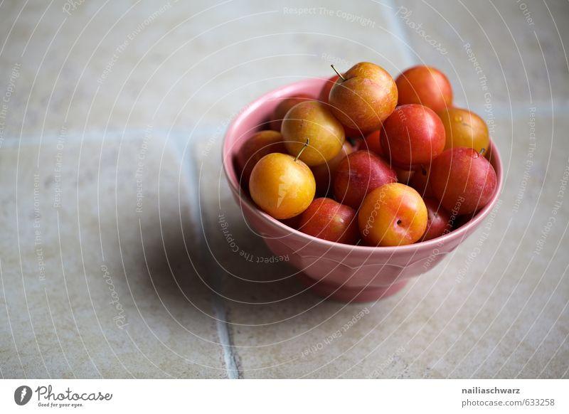 gelbe Pflaumen schön rot Gesundheit Essen natürlich Lebensmittel rosa Frucht frisch genießen Ernährung einfach retro Wellness lecker