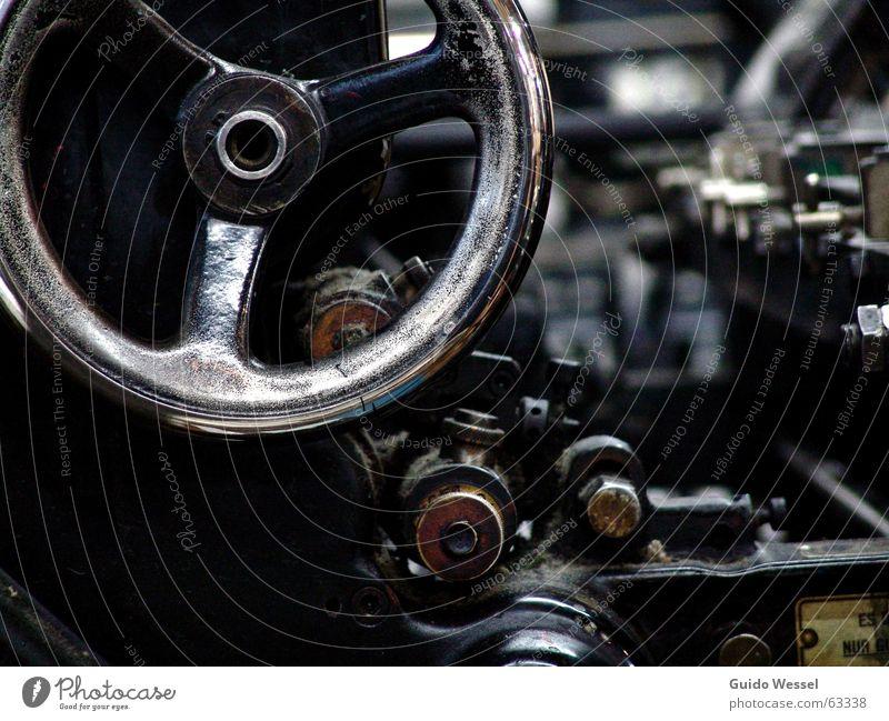 Druckmaschine Farbe Arbeit & Erwerbstätigkeit Metall Industrie retro Technik & Technologie Medien Maschine Druckerei Mechanik drucken Buchdruck