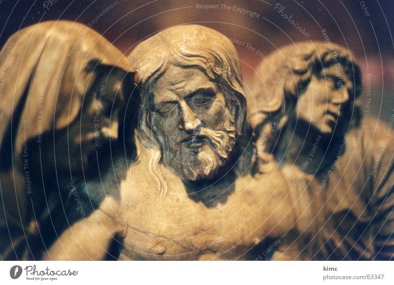 jesus Himmel Gefühle Religion & Glaube Armut bedrohlich Hoffnung Trauer Glaube Vertrauen Leidenschaft Mut Statue Fürsorge Gott Christentum Willensstärke
