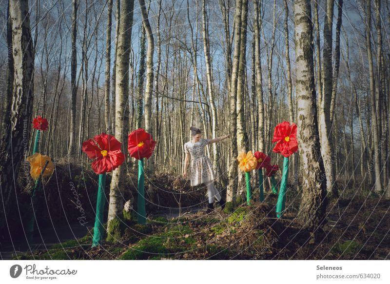 Frühling Mensch Frau Natur Pflanze Sommer Sonne Baum Erholung Landschaft Blume Freude Erwachsene Umwelt feminin Blüte