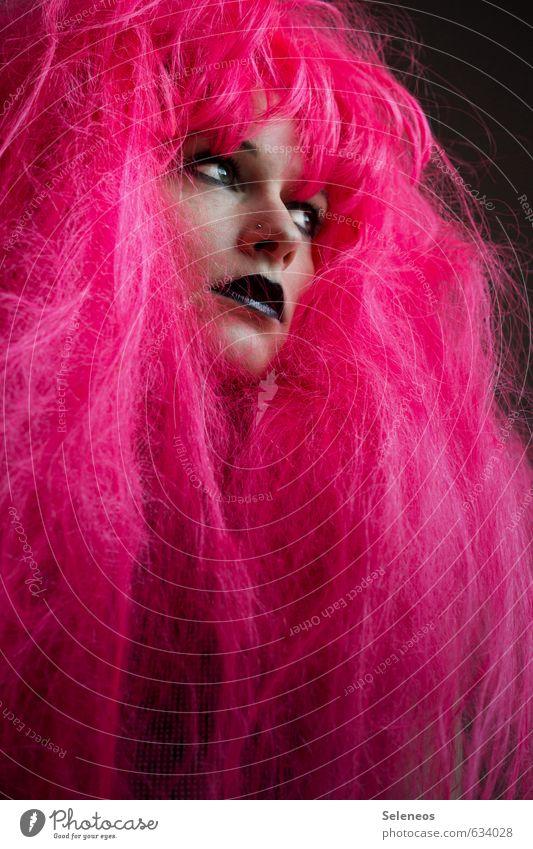 Mut zur Farbe Haare & Frisuren Gesicht Kosmetik Schminke Mensch feminin Frau Erwachsene Auge Nase Mund Lippen 1 Jugendkultur Subkultur Rockabilly Perücke