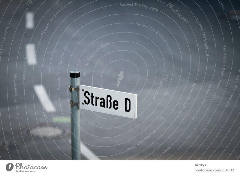 Straßenalphabet Straßenkreuzung Straßennamenschild Fahrbahnmarkierung außergewöhnlich lustig planen Güterverkehr & Logistik Kurve Asphalt Buchstaben