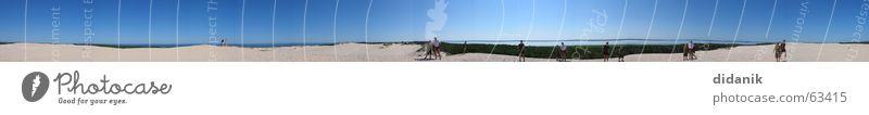 Ostsee DünenPanorama Meer Sommer Strand Ferien & Urlaub & Reisen groß Panorama (Bildformat)