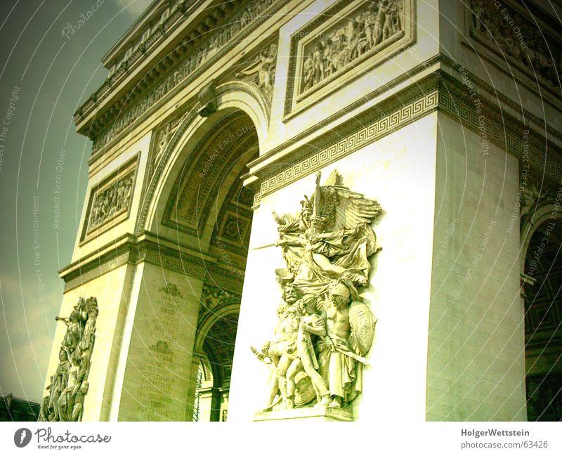 Paris - Arc de Triomphe Kultur Kunst Macht Statue Ornament Denkmal Grabmal Place Charles de Gaulle champs elysés frankfreich Sehenswürdigkeit Bogen napoleon