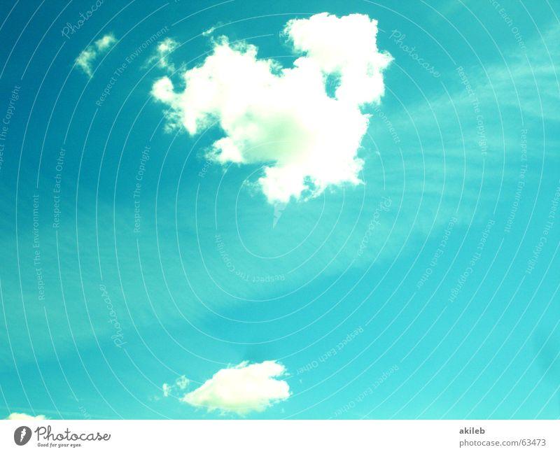 Himmel blau Wolken ruhig hell Herz Hoffnung türkis Geborgenheit Schleier