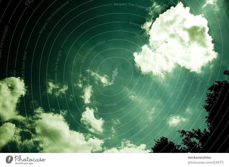 EXTREME 1 Himmel weiß grün blau Wolken Leben dunkel Tod hell Schilder & Markierungen gefährlich bedrohlich berühren Blitze türkis Strommast