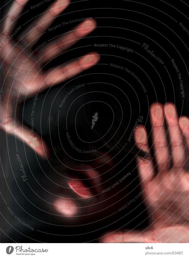 scanning IV Hand Finger Lippen Kinn schwarz Mund Haut Haare & Frisuren