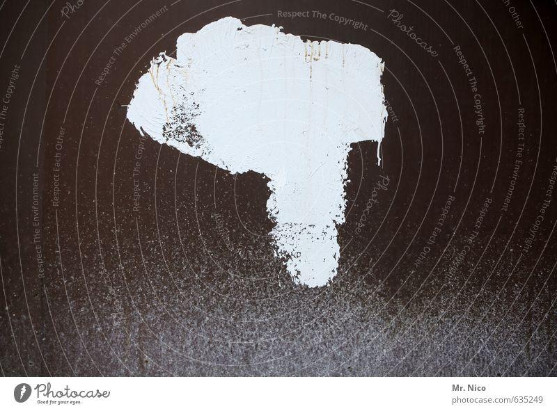 Afrika weiß Wand Farbstoff braun Fassade dreckig Kreativität Zeichen Verfall Afrika Fleck Zerstörung Landkarte Phantasie Kontinente klecksen