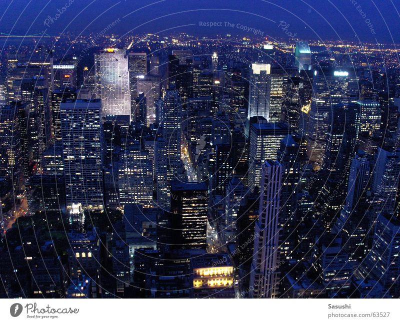Sternenmeer Nacht Meer Stadt New York City anonym Langzeitbelichtung Dämmerung Empire State Building Amerika USA