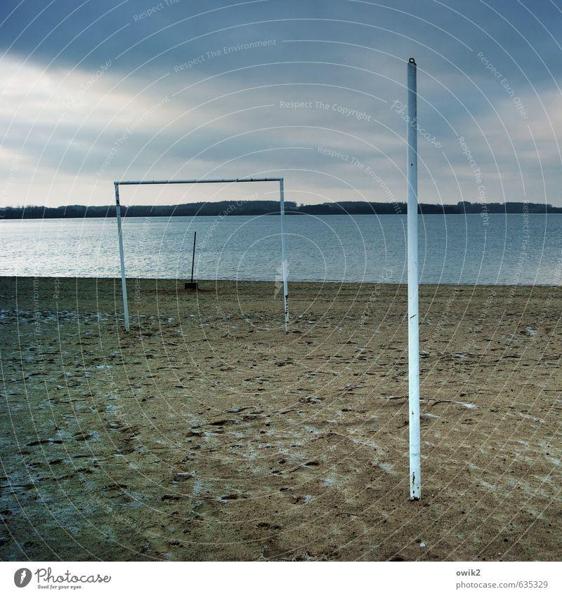 Familienstellen Himmel Natur Wasser Wolken Strand Umwelt Küste See Sand Horizont Wetter Klima einfach Schönes Wetter eckig Tor