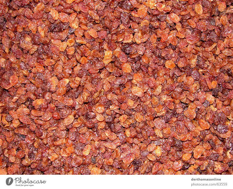 WM-Rosinen rot Ernährung Lebensmittel braun Hintergrundbild Frucht mehrere viele lecker Rosinen zäh sehr viele Trockenfrüchte Geschmackssache