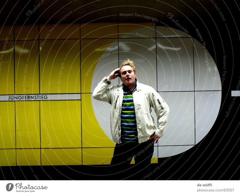 de sunshine Mann Freude gelb Haare & Frisuren Wind Hamburg Kreis Coolness U-Bahn Typ Jungfrau