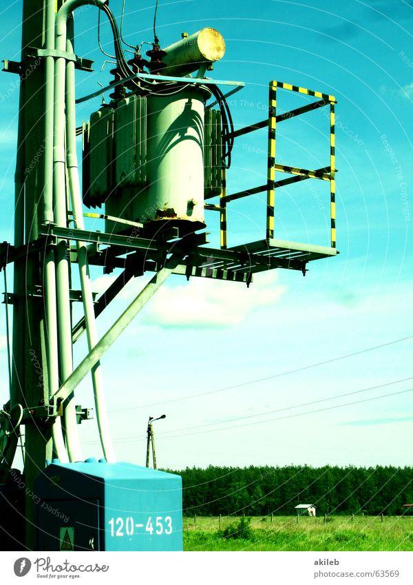 Energie Himmel Sonne Energiewirtschaft Elektrizität Zukunft Technik & Technologie Schönes Wetter Strommast