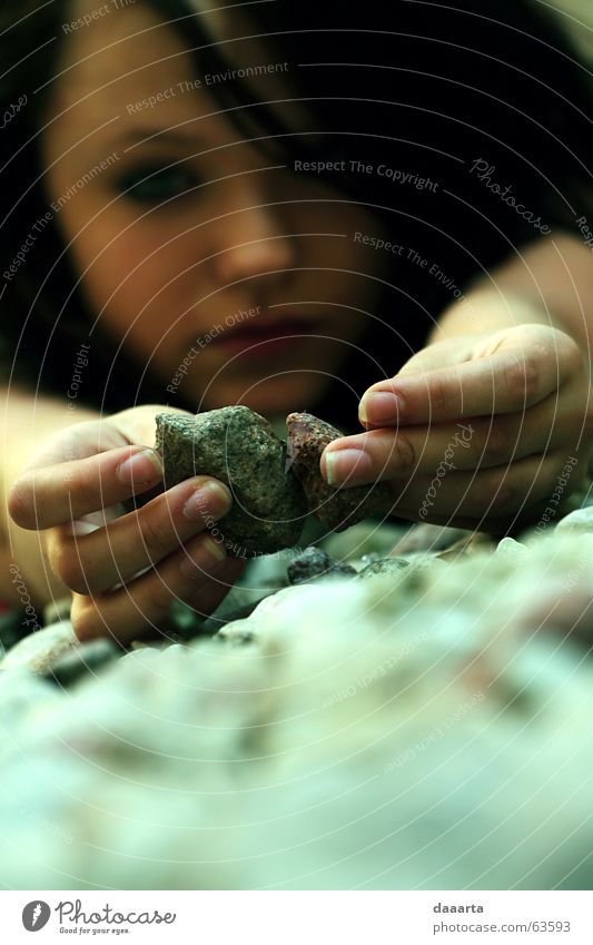 compare Mädchen stone colored young nails hands sadness thinking daydreaming explore the world fingers Mauer Außenaufnahme