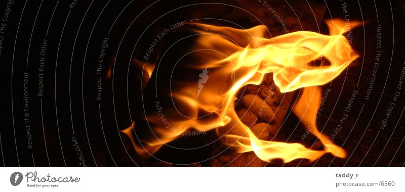 Grillkohle dunkel Brand Feuer Flamme