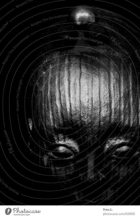schöne Fremde schön schwarz Gesicht Auge Kopf Kunst elegant Mund Dinge geheimnisvoll Schmuck Skulptur edel Stolz ernst fremd