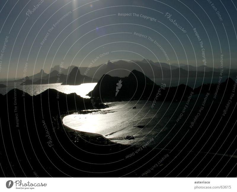 Guanabara Bay - Rio de Janeiro - Brazil Sonnenuntergang Natur Himmel Licht Wasser Strand Küste coastlines baía water landscape mountains niterói sun sky sea