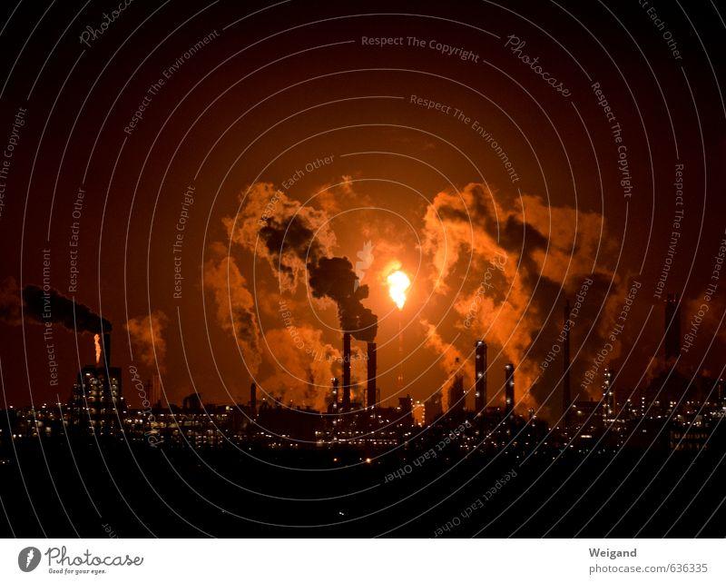 Familie Feuerstein I Wirtschaft Industrie Fortschritt Zukunft High-Tech Kohlekraftwerk Energiekrise Wärme Nacht Öl Werk Wirtschaftskrise Abgas Brand Flamme