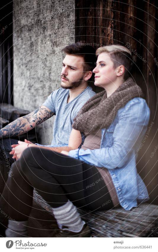 leise Töne Mensch Jugendliche schön Junge Frau 18-30 Jahre Junger Mann Erwachsene feminin Paar Freundschaft maskulin Coolness trendy
