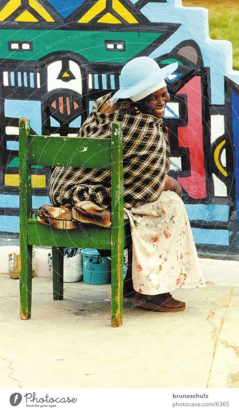 Ndebele Afrika Frau Kunst Tradition Mensch mehrfarbig ndebele Farbe Ferien & Urlaub & Reisen Kreativität Seele