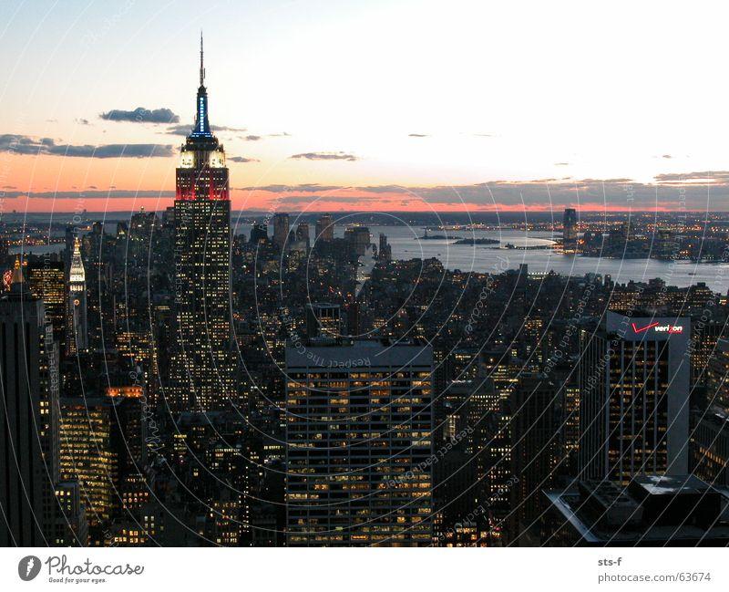 Ein weiteres NYC Foto... New York City Sonnenuntergang Empire State Building Hudson River Aussicht Hochhaus Himmel Fluss Licht