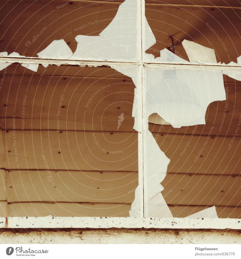 Traumhaus Haus Fenster Innenarchitektur Autofenster Abteilfenster Flugzeugfenster Wohnung Häusliches Leben Glas Glas kaputt Umzug (Wohnungswechsel) gebrochen Fensterscheibe Scheibe Renovieren