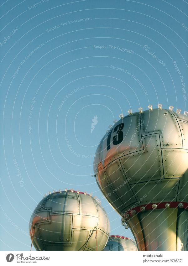 ENJOY THE RUMMEL | kirmes volksfest familie feier spaß glück Himmel blau Sommer Freude Leben Spielen Glück Luft Feste & Feiern lustig fliegen hoch Ausflug Zukunft Luftballon rund