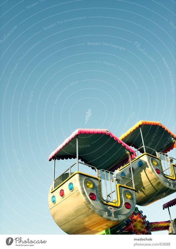 ENJOY YOURSELF | kirmes fest volksfest familie feier spaß glück Himmel blau Sommer Freude Leben Spielen Glück Zusammensein Feste & Feiern lustig hoch Ausflug