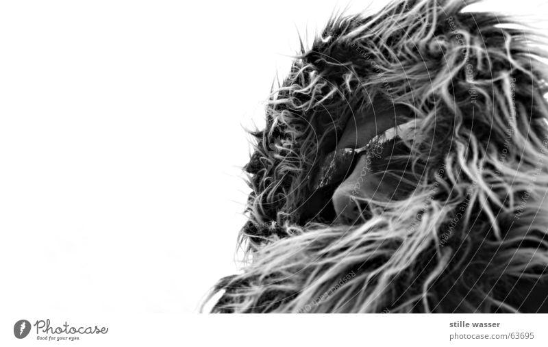 FROSTI 4 Mann weiß schwarz Auge Einsamkeit kalt Mund Wärme Nase Brille Niveau weich Physik Fell Wetterschutz