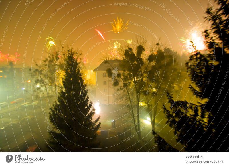 Silvester Abend Feuerwerk dunkel Feierabend Silvester u. Neujahr lankwitz Pyrotechnik Sonnenuntergang wallroth Häusliches Leben Wohnung Haus Nacht