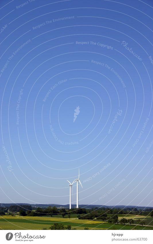 Neue Energie Himmel Landschaft Energie Energiewirtschaft Elektrizität Windkraftanlage Baden-Württemberg