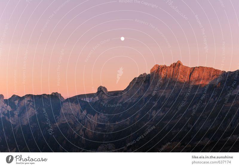 guten morgen ihr da unten Himmel Natur Ferien & Urlaub & Reisen Sommer Einsamkeit Erholung Landschaft ruhig Ferne Umwelt Berge u. Gebirge natürlich Freiheit Felsen Horizont wandern
