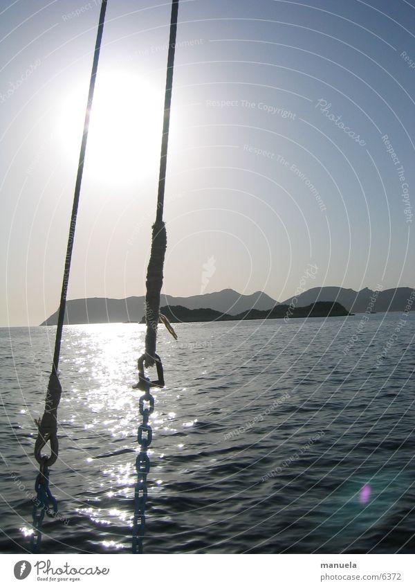 Meeresglitzern Türkei Kas Kekova Ferien & Urlaub & Reisen Wasserfahrzeug Bootsfahrt Sonne Himmel