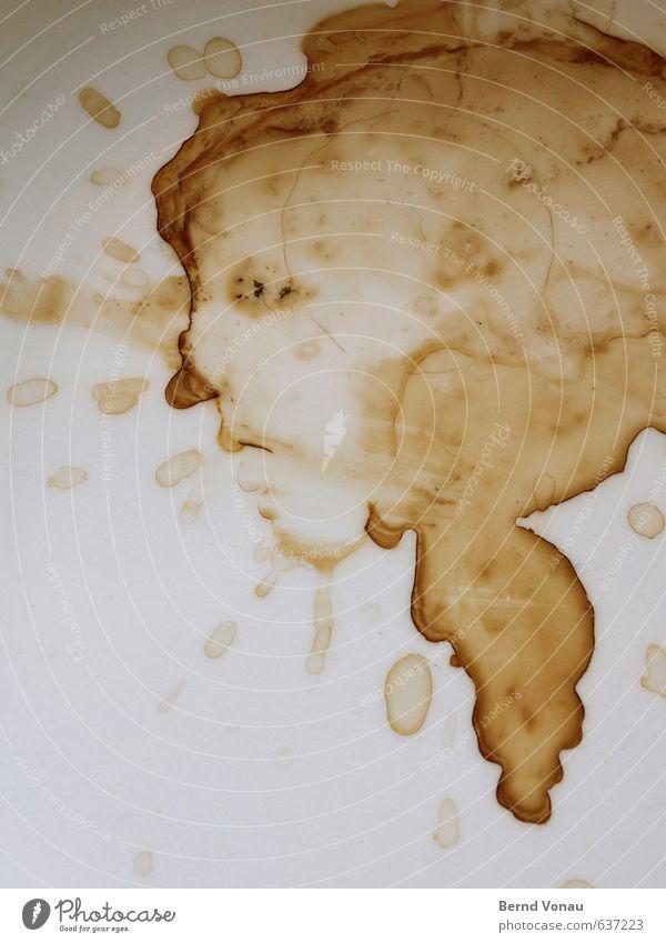Kaffeesäufernase weiß Haare & Frisuren grau außergewöhnlich braun Kunst dreckig authentisch Nase Tropfen Kaffee Gemälde Gastronomie Flüssigkeit Tasse Teller