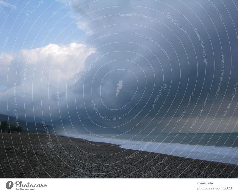olympos zürnt Himmel Meer Strand Ferien & Urlaub & Reisen Wolken Gewitter Unwetter Türkei Olymbos
