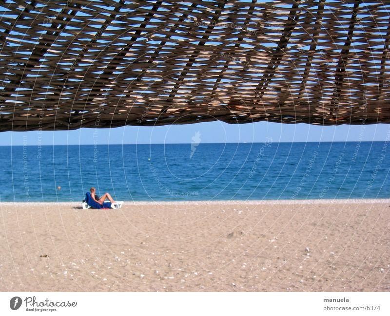 behütet Wasser Himmel Sonne Meer blau Strand Ferien & Urlaub & Reisen Sand Horizont Sonnenschirm Türkei Sonnenhut