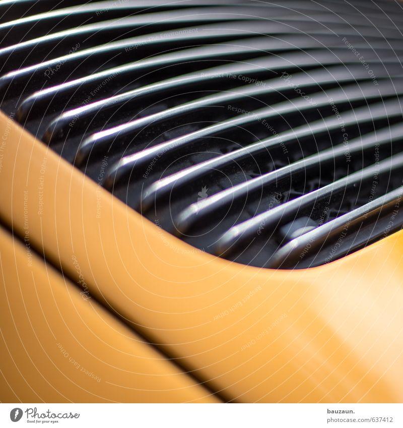 autoteil. Reichtum elegant Stil Design Motorsport Verkehr Autofahren Fahrzeug Sportwagen Metall Linie ästhetisch sportlich gelb schwarz Farbfoto Nahaufnahme
