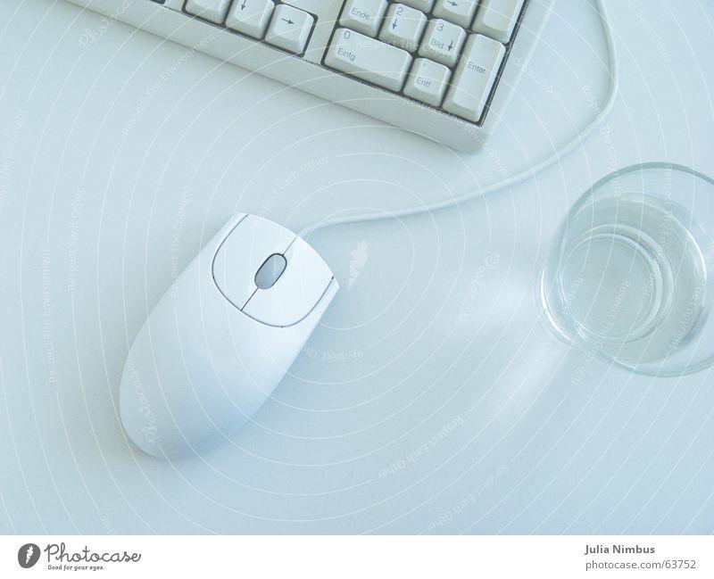 Am Rechner Arbeit & Erwerbstätigkeit Computer Tastatur Internet E-Mail Business Computermaus Alltagsfotografie